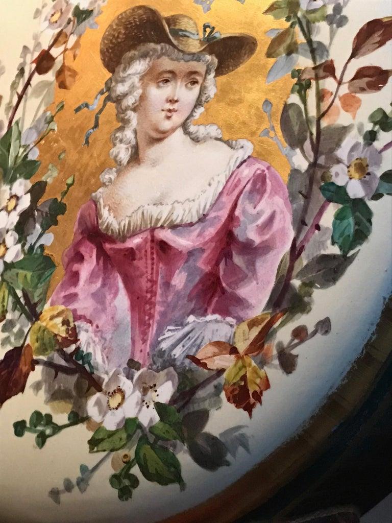 19th Century Royal Vienna Belle Époque Porcelain Moon Flask For Sale 7