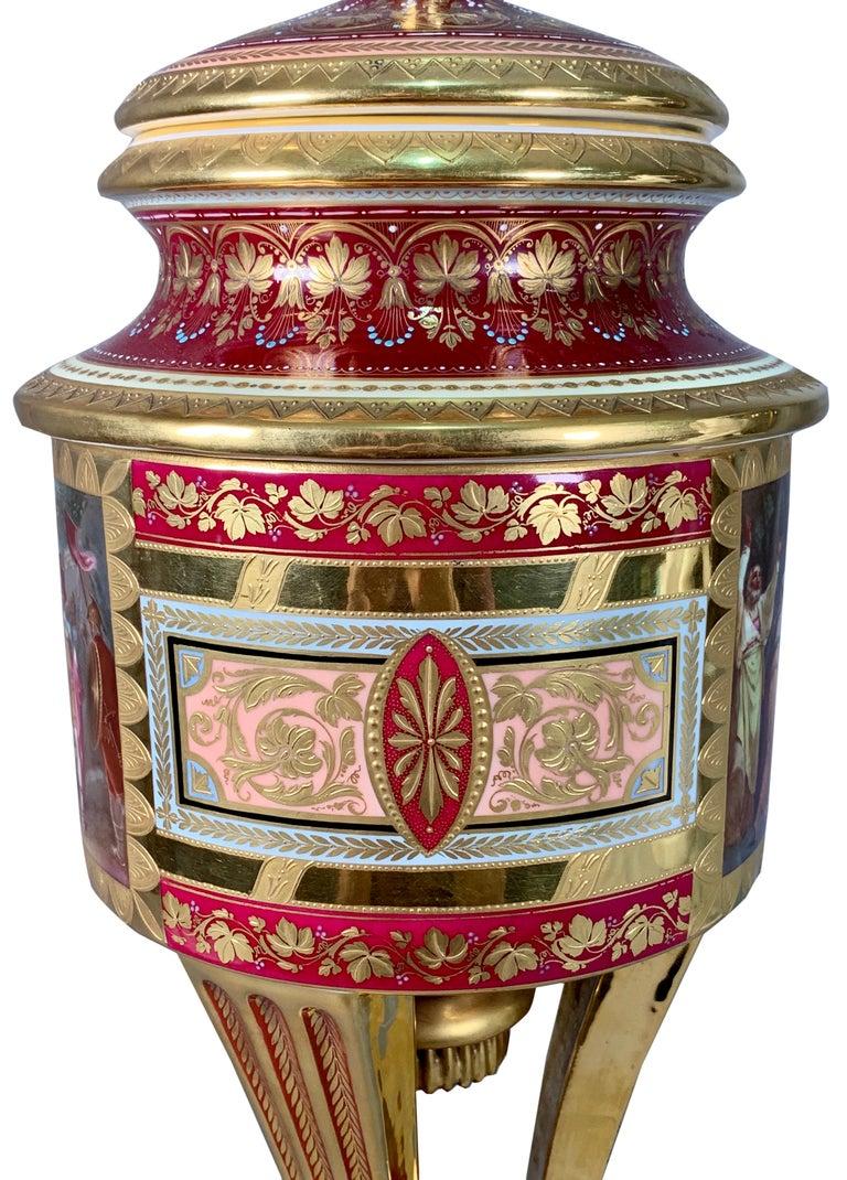 19th Century Royal Vienna Porcelain Urn / Vase For Sale 6