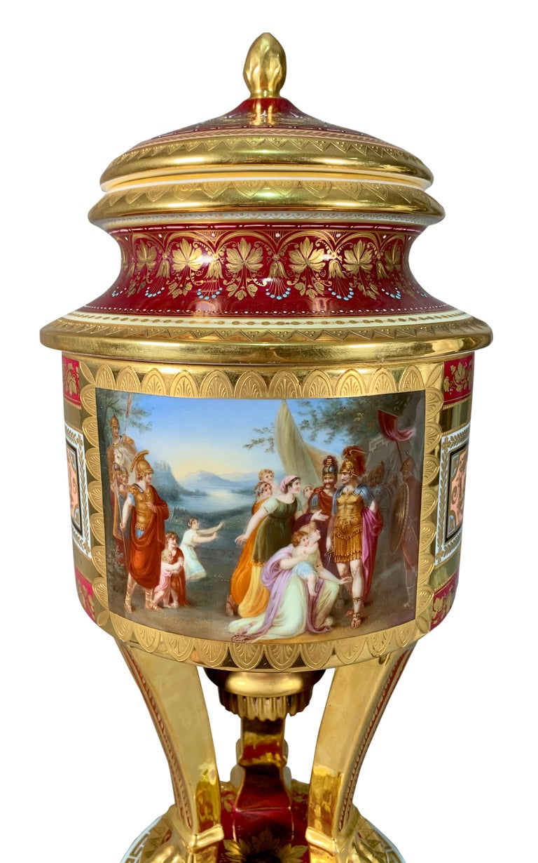 Austrian 19th Century Royal Vienna Porcelain Urn / Vase For Sale