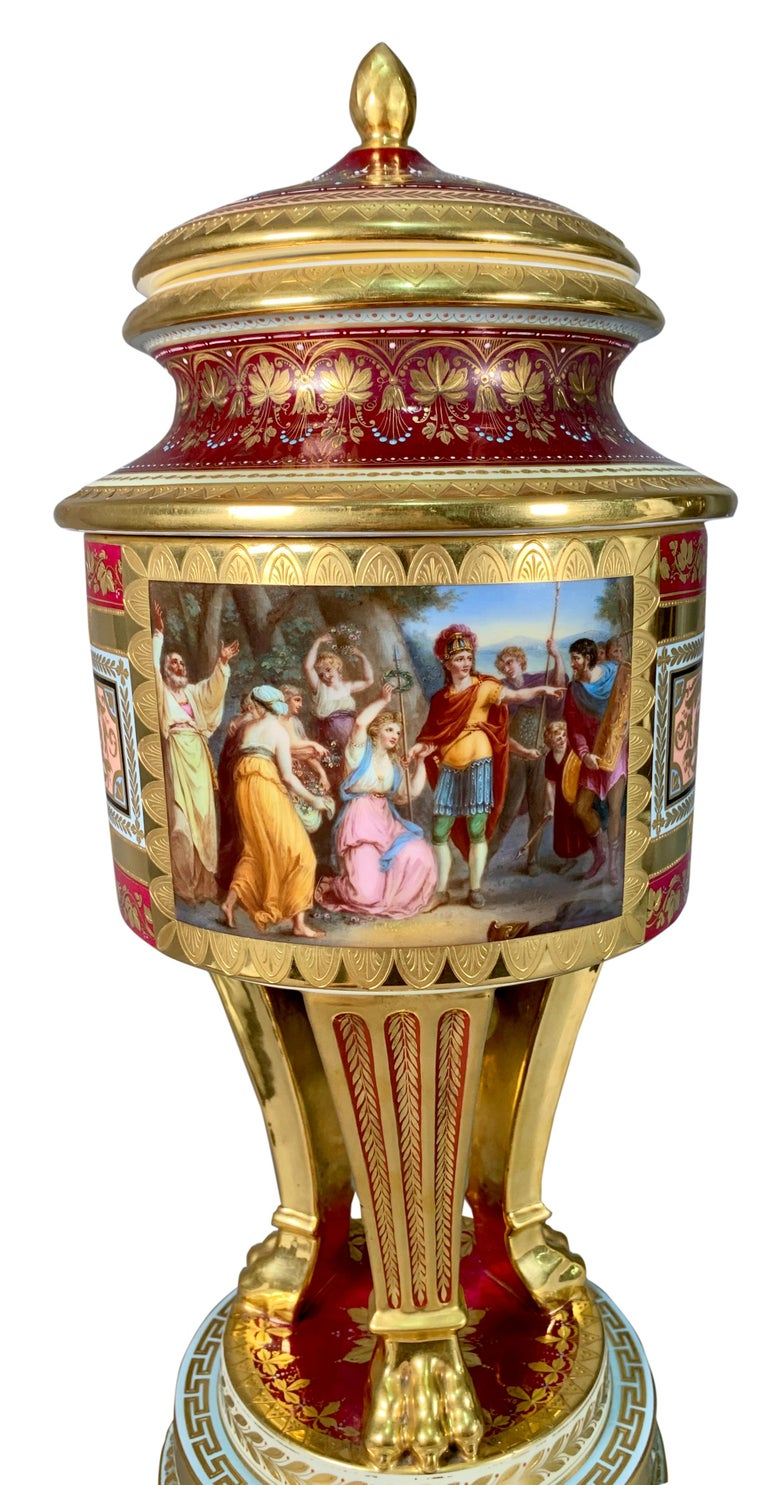 19th Century Royal Vienna Porcelain Urn / Vase For Sale 1