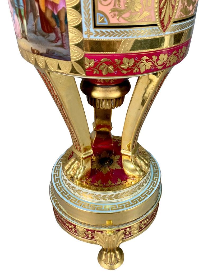 19th Century Royal Vienna Porcelain Urn / Vase For Sale 3