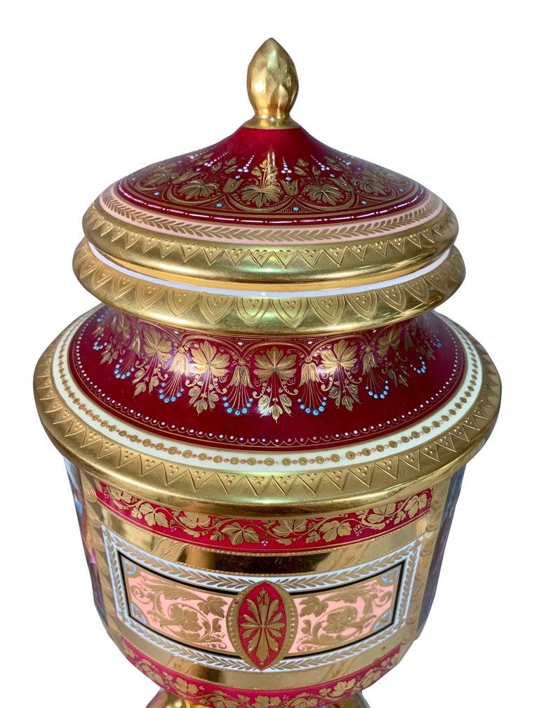 19th Century Royal Vienna Porcelain Urn / Vase For Sale 4