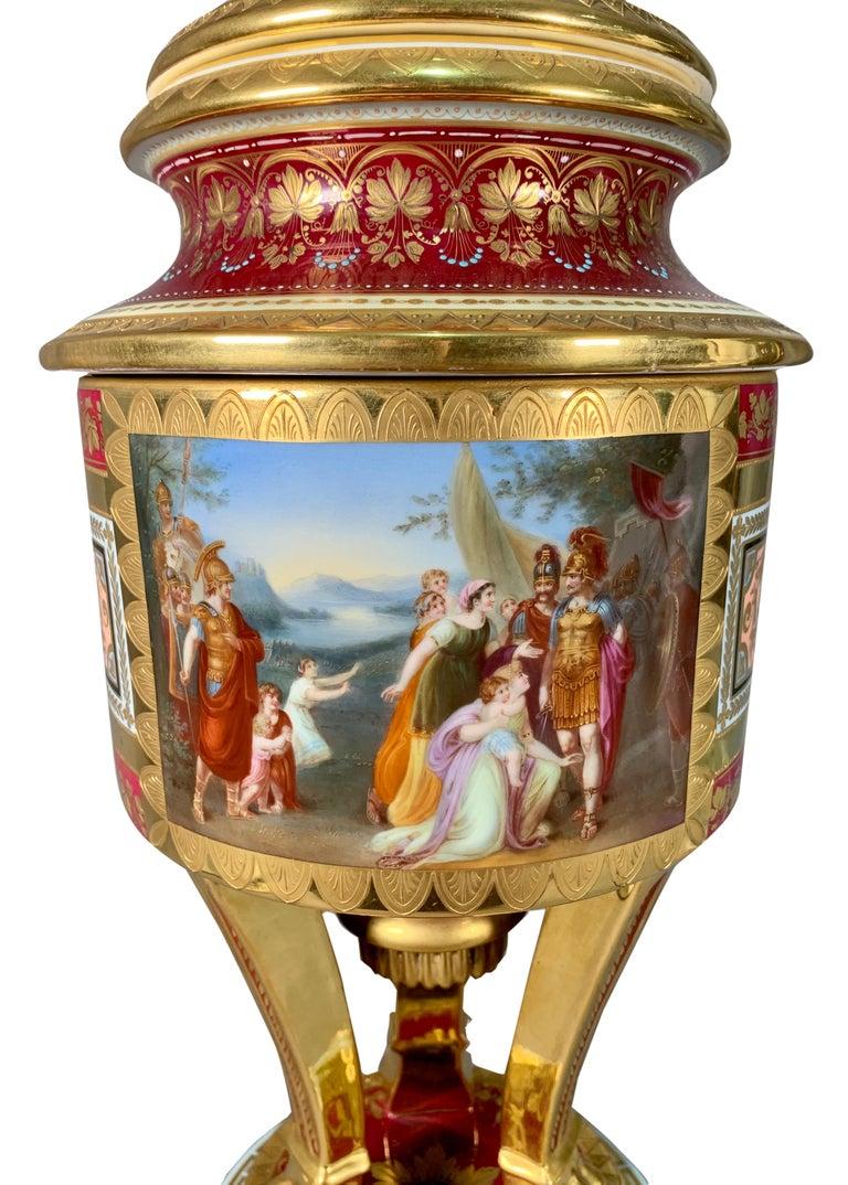 19th Century Royal Vienna Porcelain Urn / Vase For Sale 5