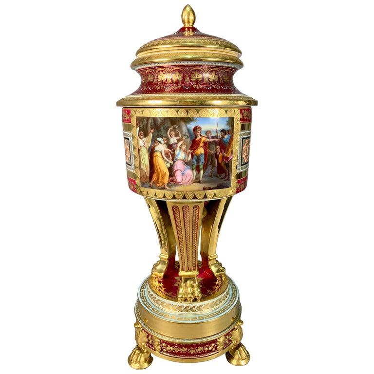 19th Century Royal Vienna Porcelain Urn / Vase For Sale