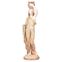 19th Century Royal Worcester Porcelain Figure of a Grecian Water Carrier