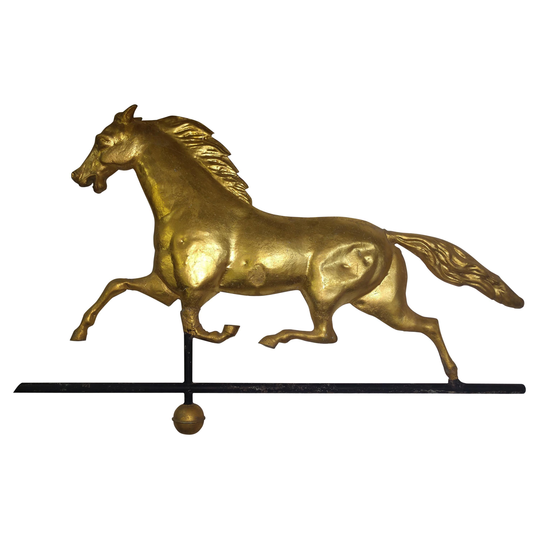 19th Century Running Horse Gilt Weather Vane