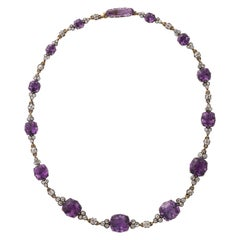 19th Century Russian Amethyst and Diamond Necklace
