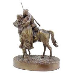19th Century Russian Bronze, the Cossack's Farewell 'Kiss', by Vasiliy Grachev