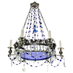 19th Century Russian Chandelier with Blue Glass