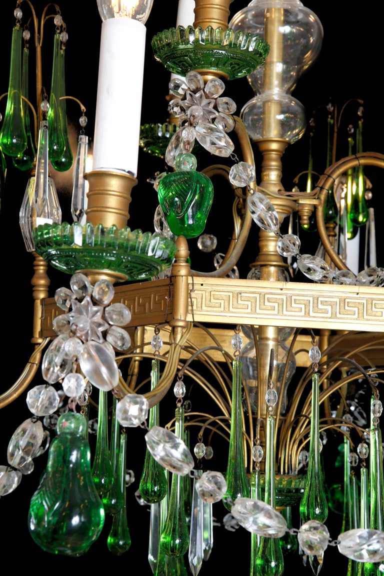 19th Century Russian Gilt Bronze and Crystal Chandelier In Excellent Condition For Sale In London, GB