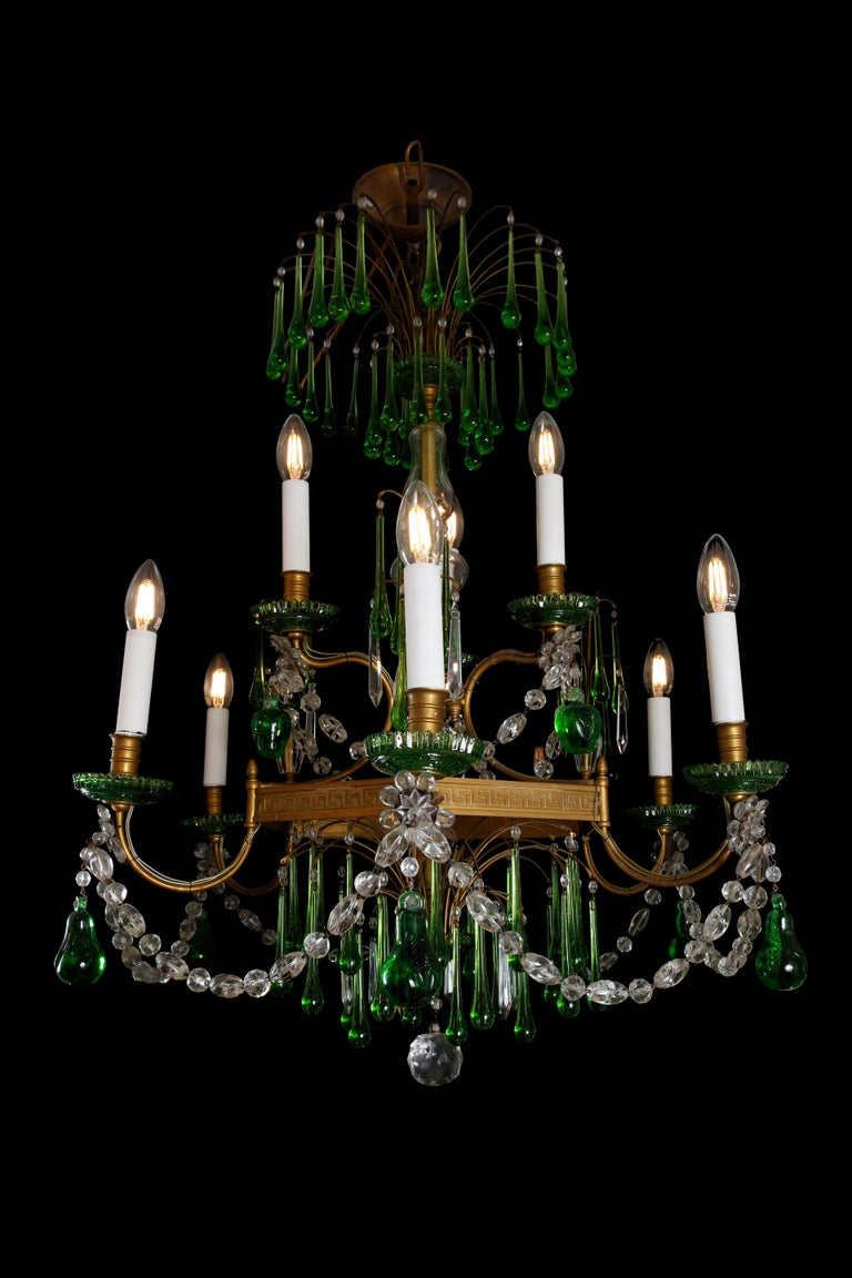 19th Century Russian Gilt Bronze and Crystal Chandelier For Sale 1