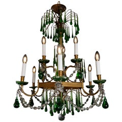 19th Century Russian Gilt Bronze and Crystal Chandelier