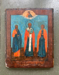 19th Century Russian Icon of Saint Nicholas