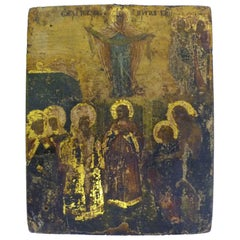 19th Century Russian Icon of The Protection of the Mother of God, Theotokos