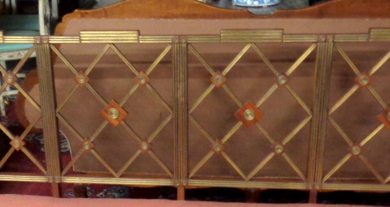19th Century Russian Mahogany Salon Set with Brass Inlay, circa 1820 For Sale 1