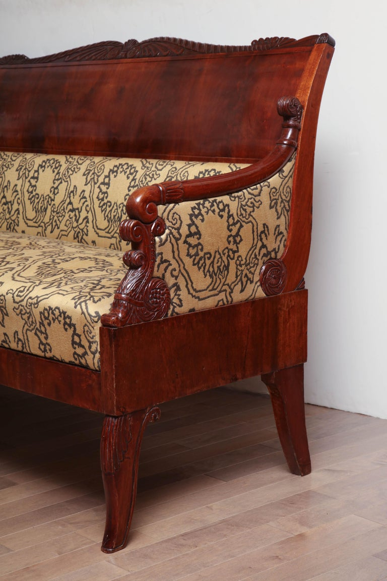 19th Century Russian Neoclassical Sofa For Sale 3