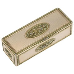 19th Century Russian Royal Presentation 14-Karat Three-Color Gold Snuff Box