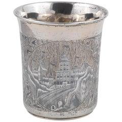 19th Century Russian Silver and Niello Beaker