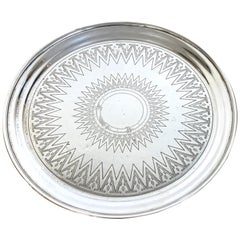 19th Century Russian Silver Engraved Salver, 1879