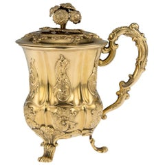 19th Century Russian Solid Silver-Gilt Cup and Cover, St-Petersburg, circa 1842