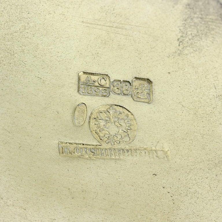 19th Century Russian Solid Silver-Gilt & Enamel Bowl, Ovchinnikov, c.1895 6