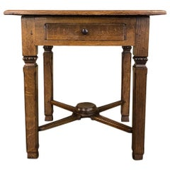 19th Century Rustic Country French End Table