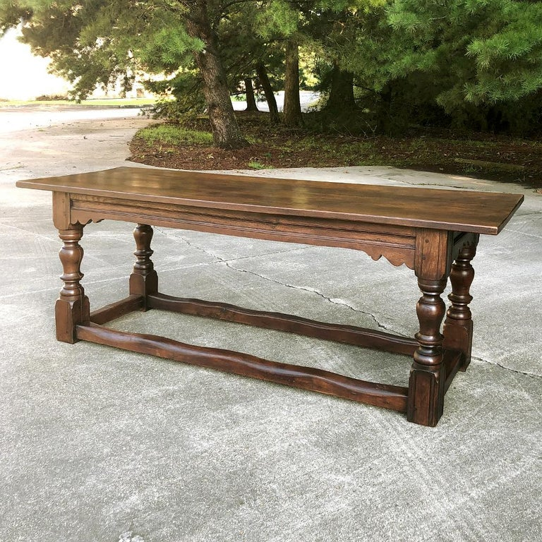 19th Century Rustic Country French Farm Table For Sale 1