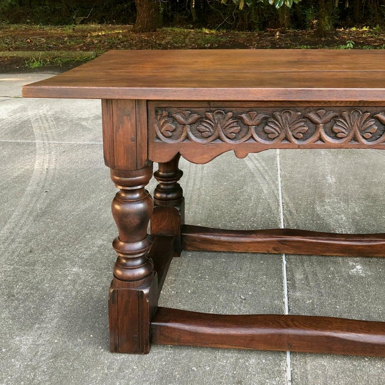 19th Century Rustic Country French Farm Table For Sale 3