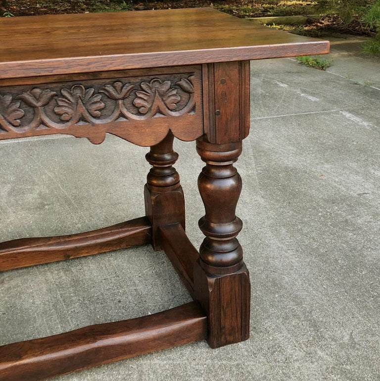 19th Century Rustic Country French Farm Table For Sale 4