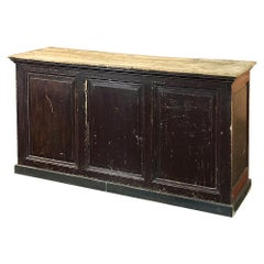 19th Century Rustic County French Store Counter