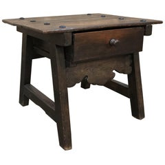 19th Century Rustic Dutch End Table