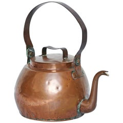 19th Century, Rustic French Copper Kettle