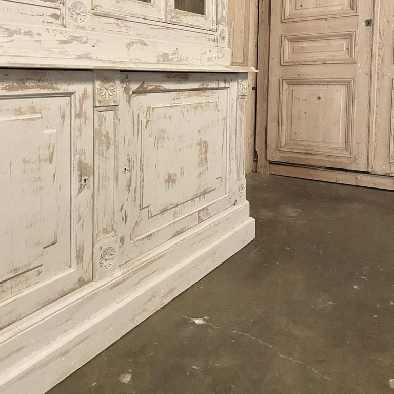 19th Century Rustic French Neoclassical Bookcase For Sale 5