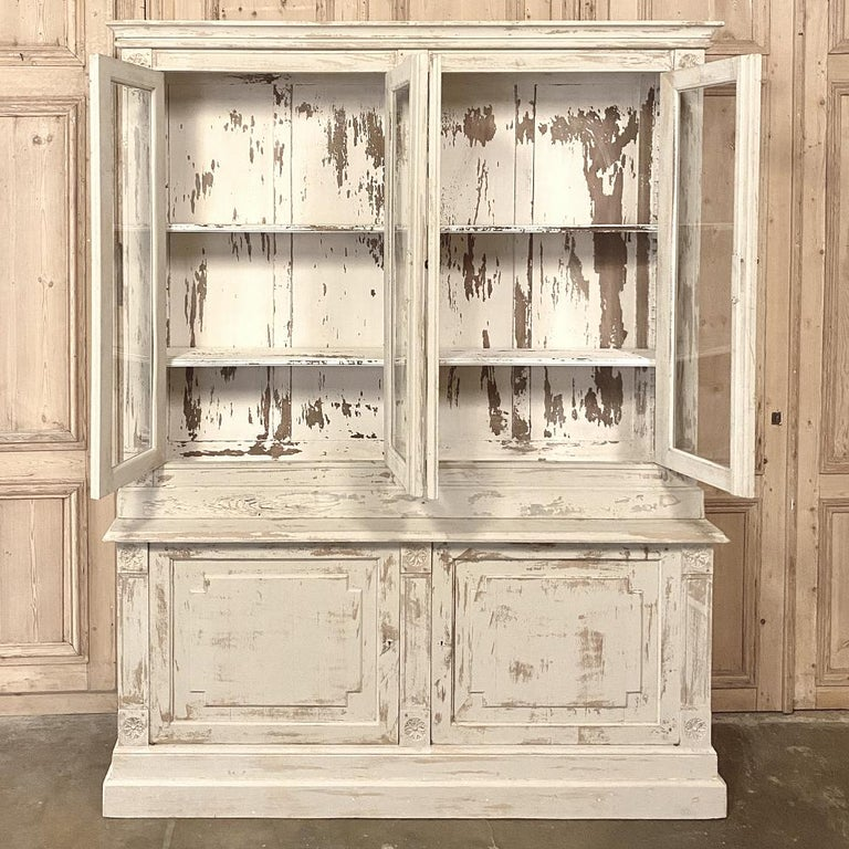 19th Century Rustic French Neoclassical Bookcase For Sale 6