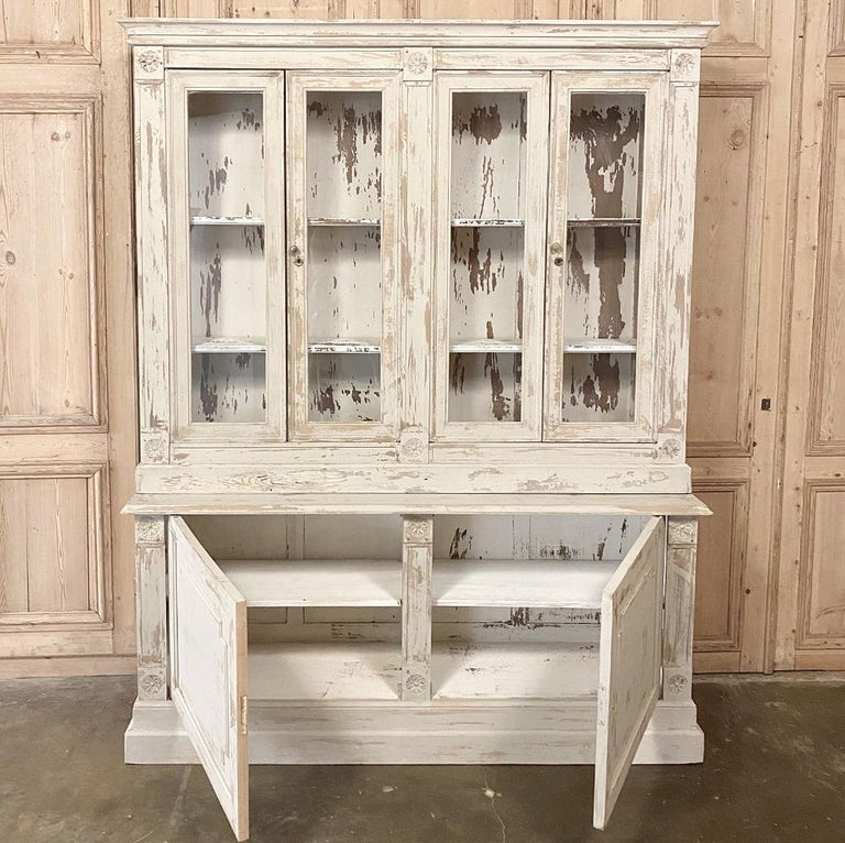 19th Century Rustic French Neoclassical Bookcase For Sale 7