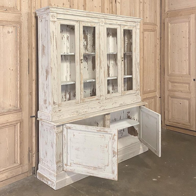 19th Century Rustic French Neoclassical Bookcase For Sale 8