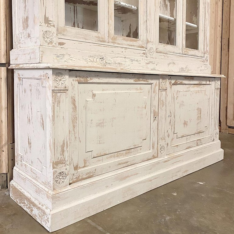 19th Century Rustic French Neoclassical Bookcase For Sale 11