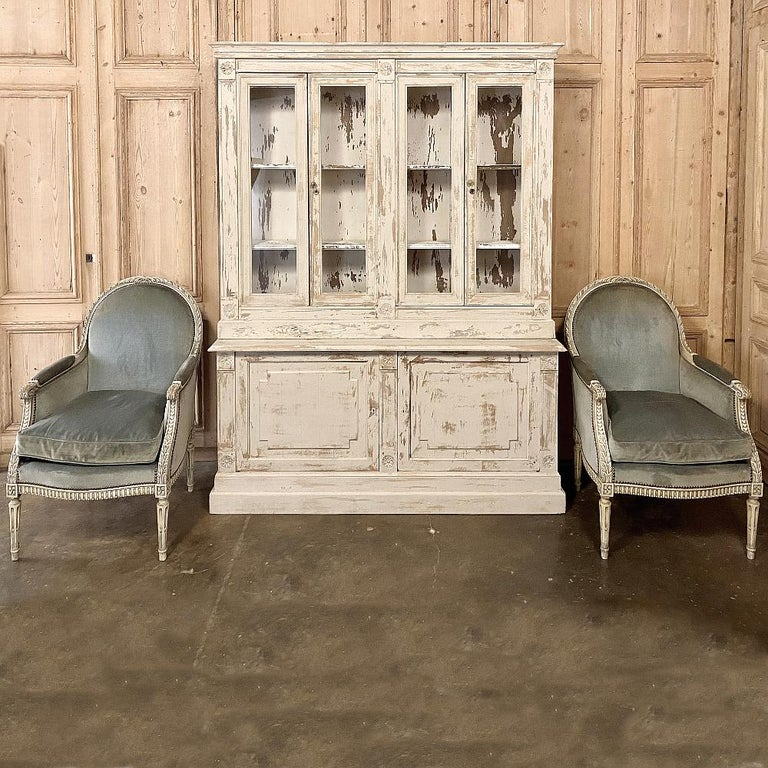 19th Century Rustic French Neoclassical Bookcase For Sale 13