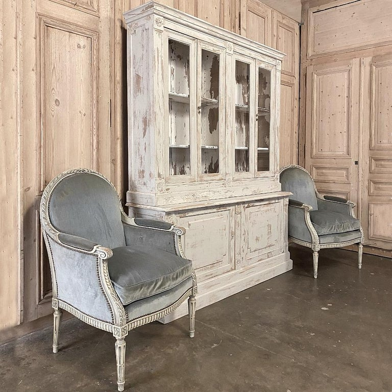 19th Century Rustic French Neoclassical Bookcase In Good Condition For Sale In Dallas, TX