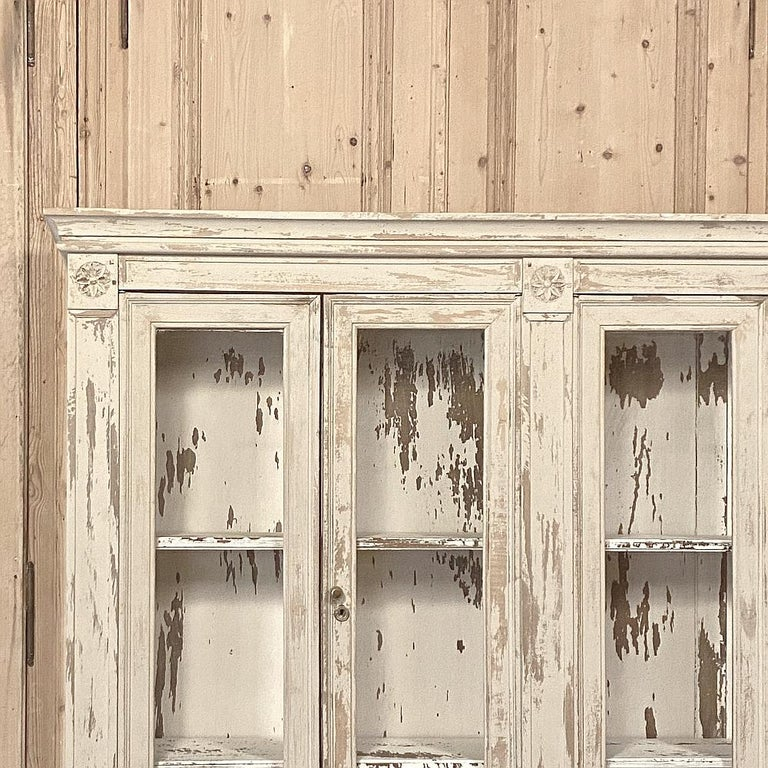 Late 19th Century 19th Century Rustic French Neoclassical Bookcase For Sale