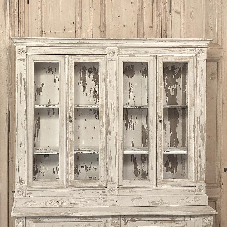 19th Century Rustic French Neoclassical Bookcase For Sale 1