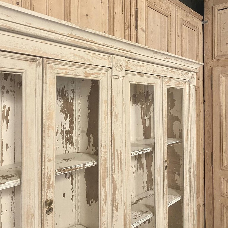 19th Century Rustic French Neoclassical Bookcase For Sale 2