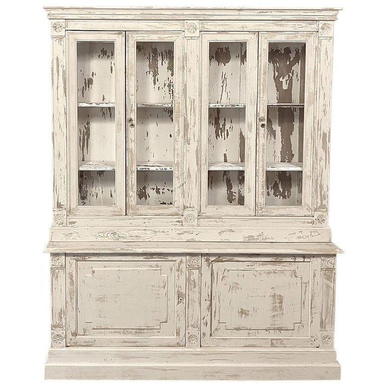 19th Century Rustic French Neoclassical Bookcase For Sale