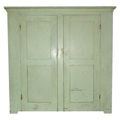 19th Century Rustic Hudson Valley Country Wall Cupboard
