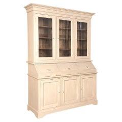 19th Century Rustic Neoclassical Painted Store Display, Bookcase