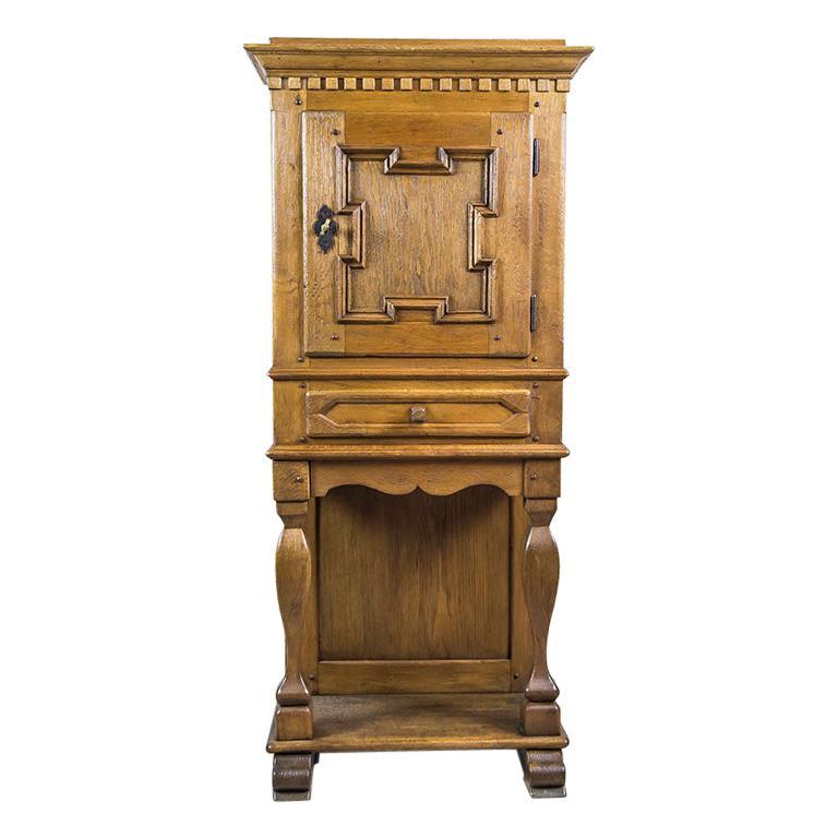 19th Century Rustic, Oak Cabinet