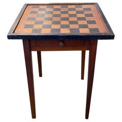 19th Century Rustic Painted Game Table