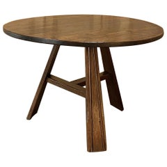 19th Century Rustic Round Breakfast Table, Game Table