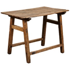 19th Century Rustic Spanish Side Table