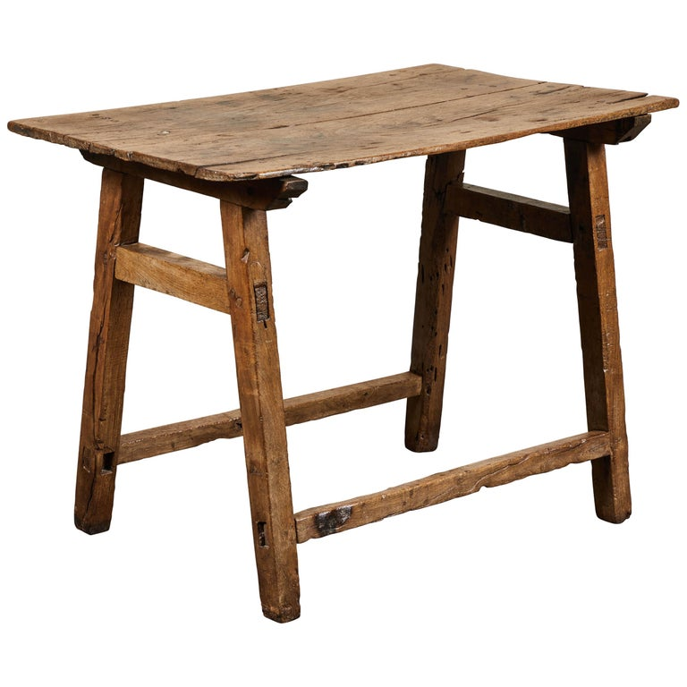 19th Century Rustic Spanish Side Table For Sale